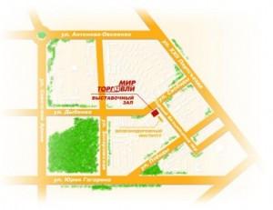 Схема проезда - фото компания МИР ТОРГОВЛИ поставка и продажа торгового оборудования в Самаре