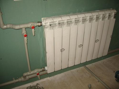 Фото подключения радиатора